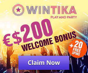 Latest bonus from Wintika Casino